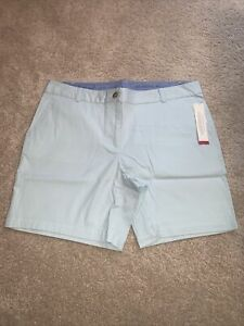 """Talbots The Weekend Chino Shorts Size 14 """"Opal Green"""" NWT"""