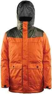 NWT MENS THIRTYTWO TRUMAN SNOWBOARD JACKET $240 Burnt Orange water proof