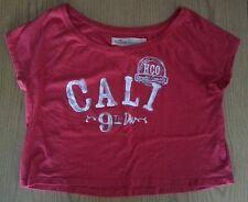 Hollister NWT Medium Cropped Cali 9th Div Tee Shirt T Shirt MEDIUM NEW