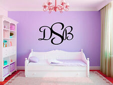 """Personalized Initial Monogram Name #2 Room Vinyl Wall Decal Decor 15"""" Tall"""