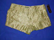 """NWT Ladies""""Rampage""""Green Studded  4 pockets Shorts size 11 Super  Cute!"""