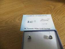 stunning Tanzanite &  9K white GOLD earring  Gems Tv tj