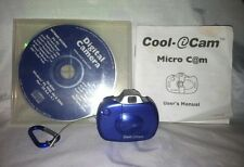 Cool-iCam CIC150 Micro C@m Mini VGA Digital Camera CD Rom Belt Clip Cradle USB