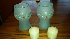 PFALTZGRAFF WINTERBERRY CANDLE HOLDERS SET OF TWO NEW