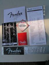 Fender caso Candy-Etiquetas el registro manual Doc Strat Tele Jazz PBass 2002-2011