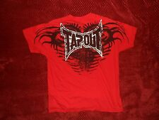 """vtg TAPOUT An Expression of Combat RED Dble Side T-Shirt XL 44"""" Signature Series"""