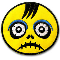 Zombie Ghost Kid Skull Patch Iron on Embroidered Applique Cartoon Sew Animation