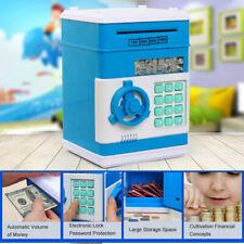 Electric ATM Money Bank Box Automatic Counting Cash Coin Piggy Box Saving Jar UK