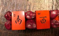Vintage Bakelite Mahjong Skull Bead Chinese Directional Bracelet