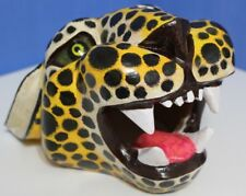 Vintage Wood Handcarved Cheetah Wild Cat Hand Painted