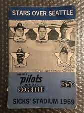 """Rare 1969 Seattle Pilots Official Scorebook .35 Cents """"Stars Over Seattle"""""""