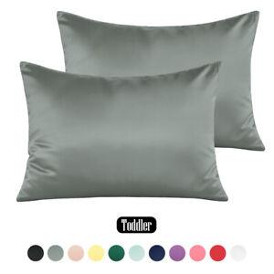 "100% Satin Travel Pillow Case 2 Pack 13""x 18"" Lightweight Soft Smooth Pillowcase"