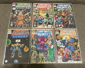 INFINITY GAUNTLET #1-#6 Marvel Comics Thanos 1991
