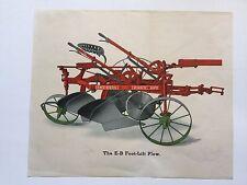 1917 Emerson Brantingham Foot Lift Plow Farm Equipment Agriculture Print