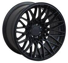 XXR 553 17X9.25 Rims 5x100/114.3mm +22 Black Wheels Fits 350z G35 240sx Rx8 Rx7