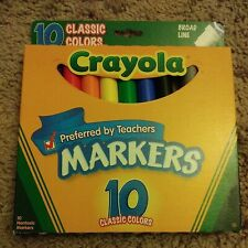 New Crayola Classic Colors Broad Line 10 Markers