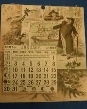 Antique BUCKEYE mower Calender Aultman Miller & Co. Akron, Ohio  1887
