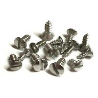 No.4 No.6 Slotted RAISED Countersunk Self Tapping Screws - A2 Stainless Tapper