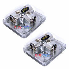 Two(2)Stinger 0 Gauge T Style Power Ground Amp Wire Distribution Blocks SPD512