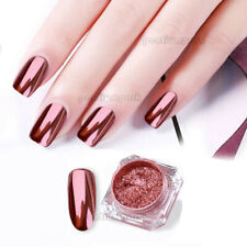 0.2g/Box Rose Gold Nail Powder Mirror Chrome Effect Pigment Nail Art Accessories