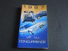 PEUGEOT brochure catalogue document interne VP-VU concurrence - 1987 - très rare