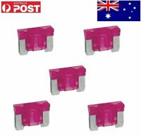 5pcs 4A 4Amp Low Profile Mini Blade Fuses For Auto Car Truck Boat Blue