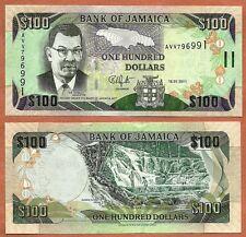 Jamaica 2011 UNC 100 Dollars Banknote Paper Money Bill P-84f