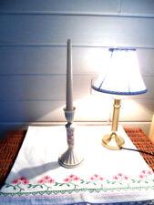 PartyLite -  Kerzenständer Leuchter - Porzellan - Durchbruchmuster - Höhe 20cm