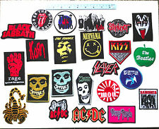 Set Of 23 pcs Hardcore Alternative Metal Punk Rock Embroidered Iron On Patch