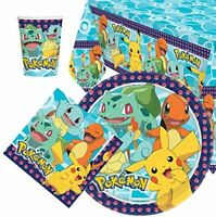 Pokemon Party Supplies Plates, Cups, Napkins, Balloons, Banners, Bags & More