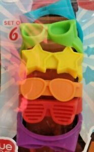 Beernoculars Beer Goggles Silicone ID Bottle Markers - Set of 6- Party Favor