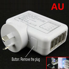 AU 4 Ports USB Port Plug 2A AC Power Travel Home Wall Charger Charging Adapter
