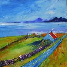 Windy Day Croft Isle of Mull HEBRIDEAN COLOURIST  OIL PAINTING : NATALIE SOUTER