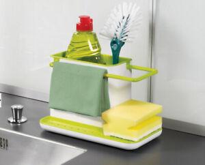 Kitchen Sink Organiser for Cloth Sponge Washing Up Liquid Soap Dish Dishwasher