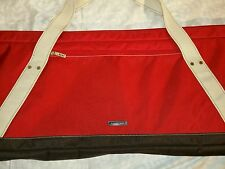 Land's End Red Canvas Ski Snowboard Travel Duffel Bag V#3126