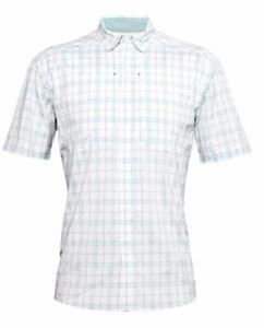 Under Armour Fishing Shirt, Men's Large, UA Tide Chaser 2.0 Plaid SS Shirt, NWT