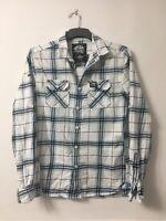 Superdry Mens Plaid Cotton Long Sleeve Shirt M(D90)