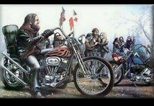 Ghost Rider David Mann Motorcycle 2 Art Poster Print [No frame]