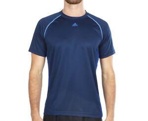 Adidas 3S Base T-shirt Navy Polyester training Three Stripe Crew neck Tee S19666
