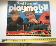RARE CATALOGUE PLAYMOBIL TRAIN 1982 1983 LEAFLET FLYER DEPLIANT VINTAGE KLICKY