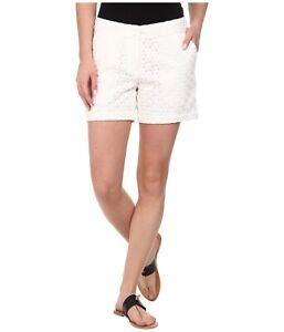 *NWOT*TOMMY BAHAMA Womens Eugenia Eyelet Lace Summer Shorts  White Size 2