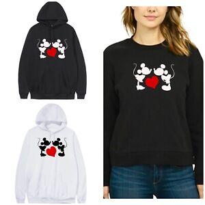 Minnie Mickey Top Plus Sizes 16-40 Womens Disney Sweatshirt Hoodie jumper  M9
