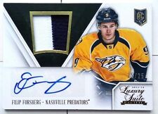 /25 FILIP FORSBERG GOLD ROOKIE JERSEY PRIME PATCH AUTO LUXURY SUITE