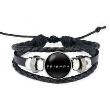 Friends Tv Show iconic Leather cord glass pendant bracelet Unisex gift birthday