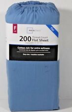 Mainstays 200 Thread Count Full Flat Sheet Blue Eyes Nwt