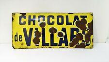 Chocolat de Villars -  Rare plaque émaillée publicitaire ancienne