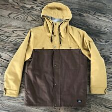 Dakine Mens Technical Outerwear Jacket with hood Size Large ~Tan / Brown NWOT
