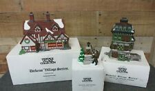 Dept 56 Dickens Village- Flat of Ebenezer Scrooge-Ashbury Inn-Lamplighter 3 Pcs