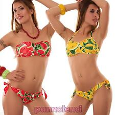 Bikini donna costume da bagno fascia frutta brasiliana due pezzi nuovo SE533