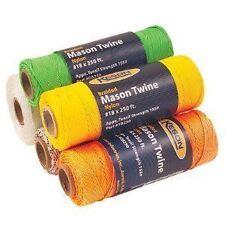 Keson Mason Twine Braided Nylon 250' Roll Orange 8129